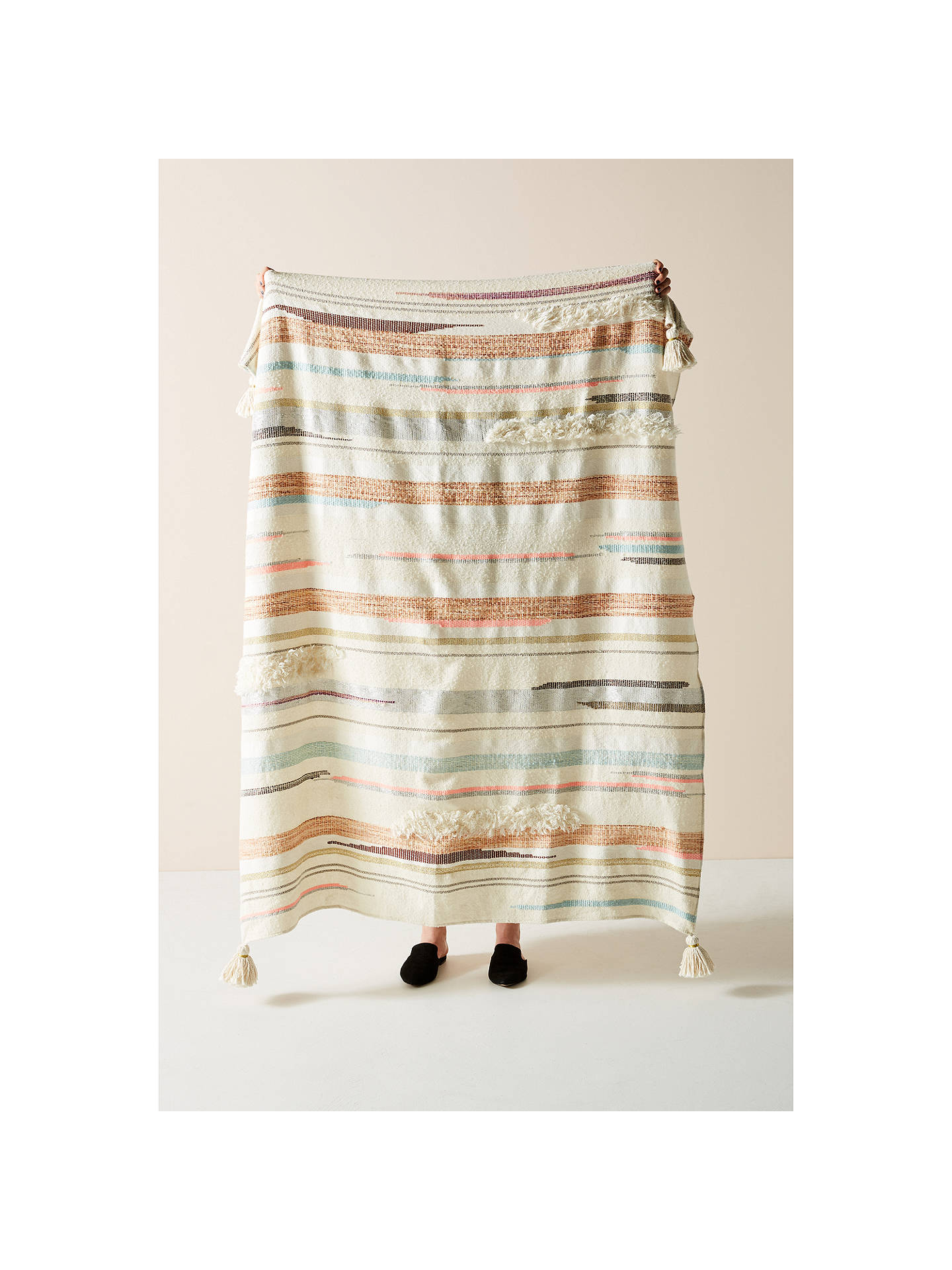 BuyAnthropologie Jess Feury Throw, Multi Online at johnlewis.com