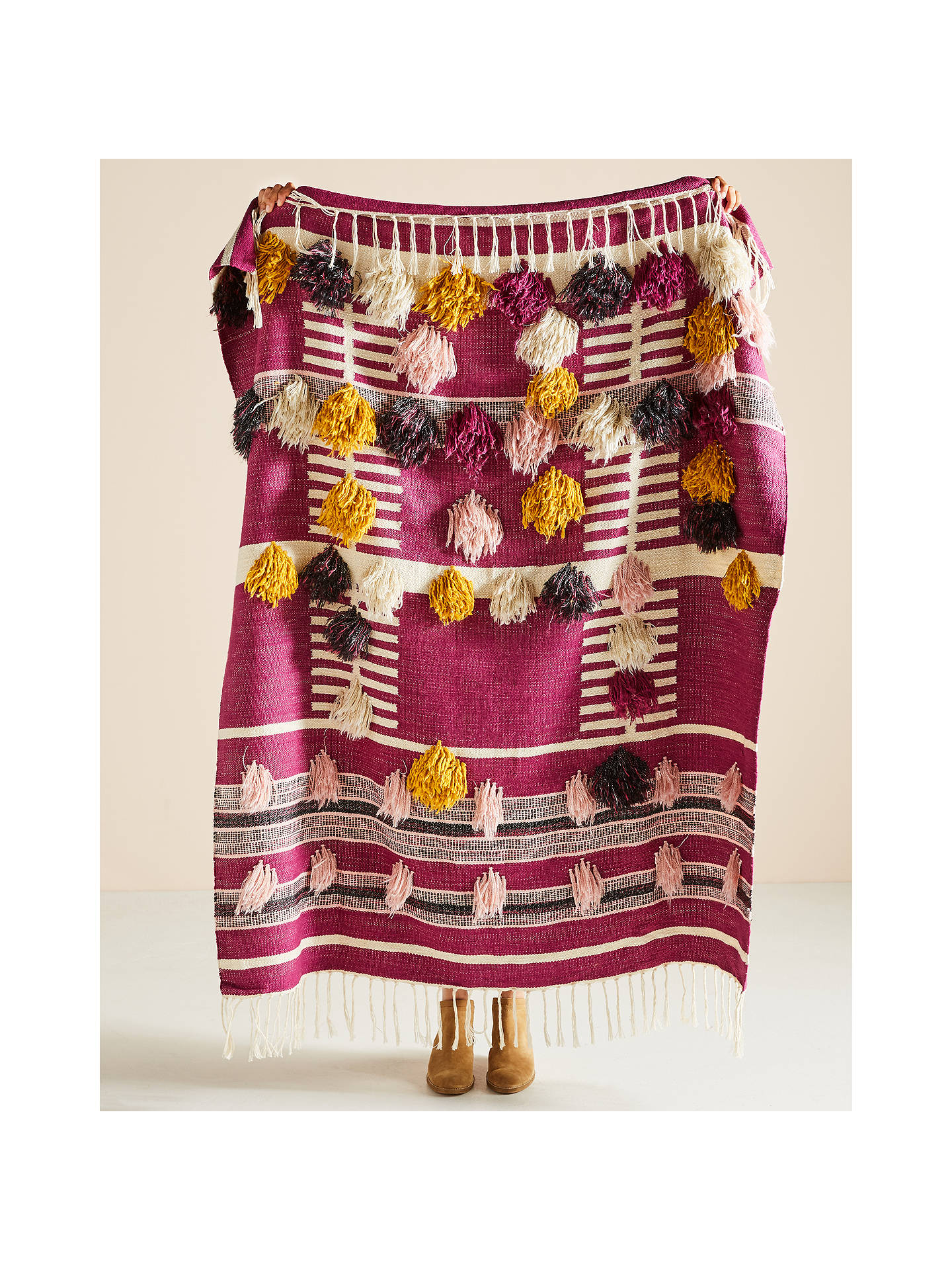 Buy Anthropologie Janet Throw, Magenta Online at johnlewis.com