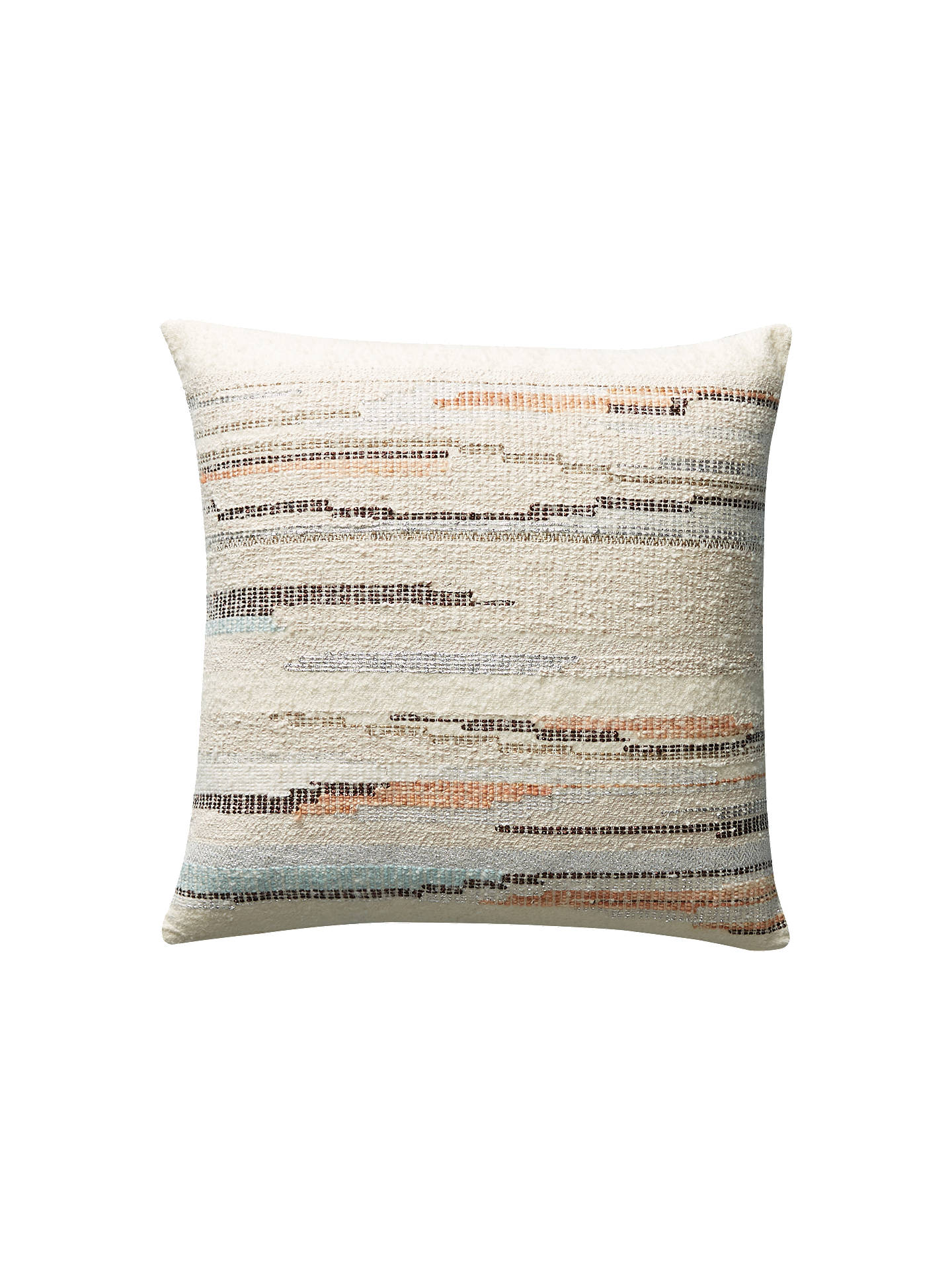 Buy Anthropologie Jess Feury Sunstreak Cushion, Silver/Multi Online at johnlewis.com
