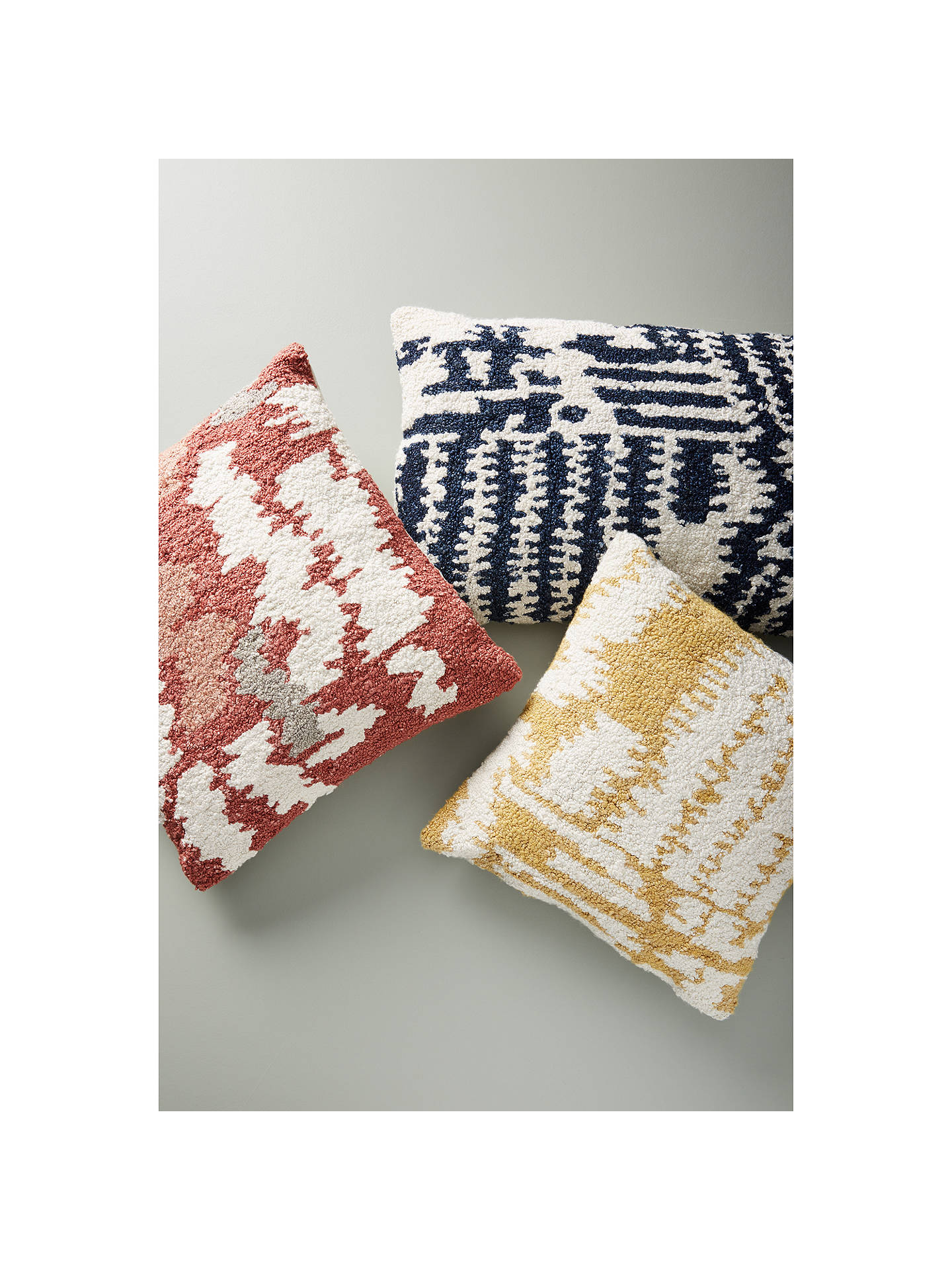 Buy Anthropologie Jordana Tufted Cushion, Navy Online at johnlewis.com