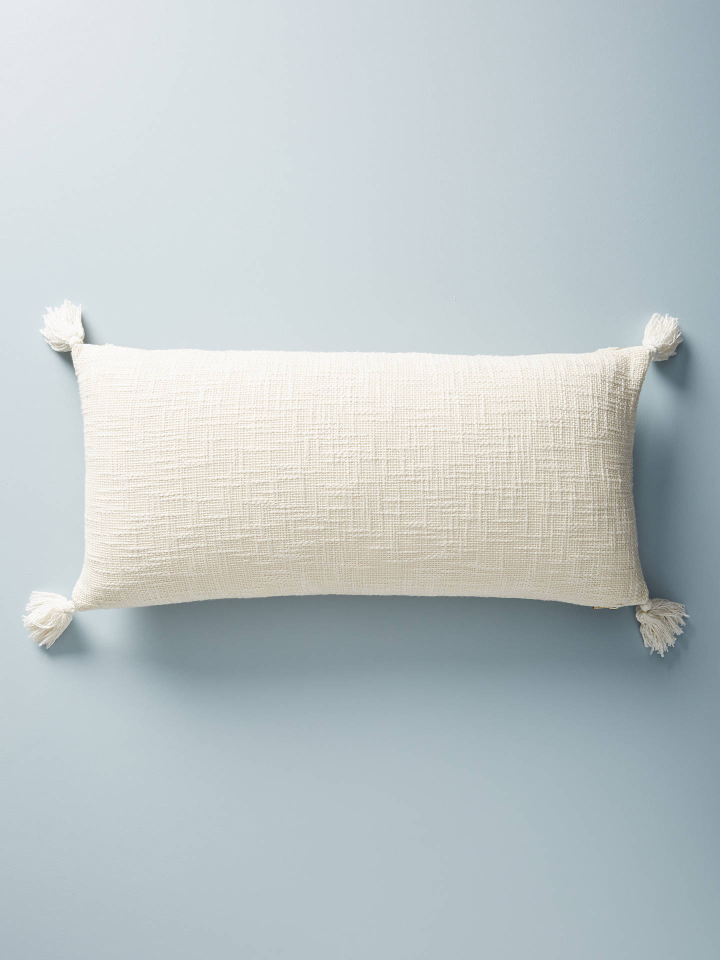 BuyAnthropologie Ryleigh Embroidered Rectangular Cushion, Ivory Online at johnlewis.com