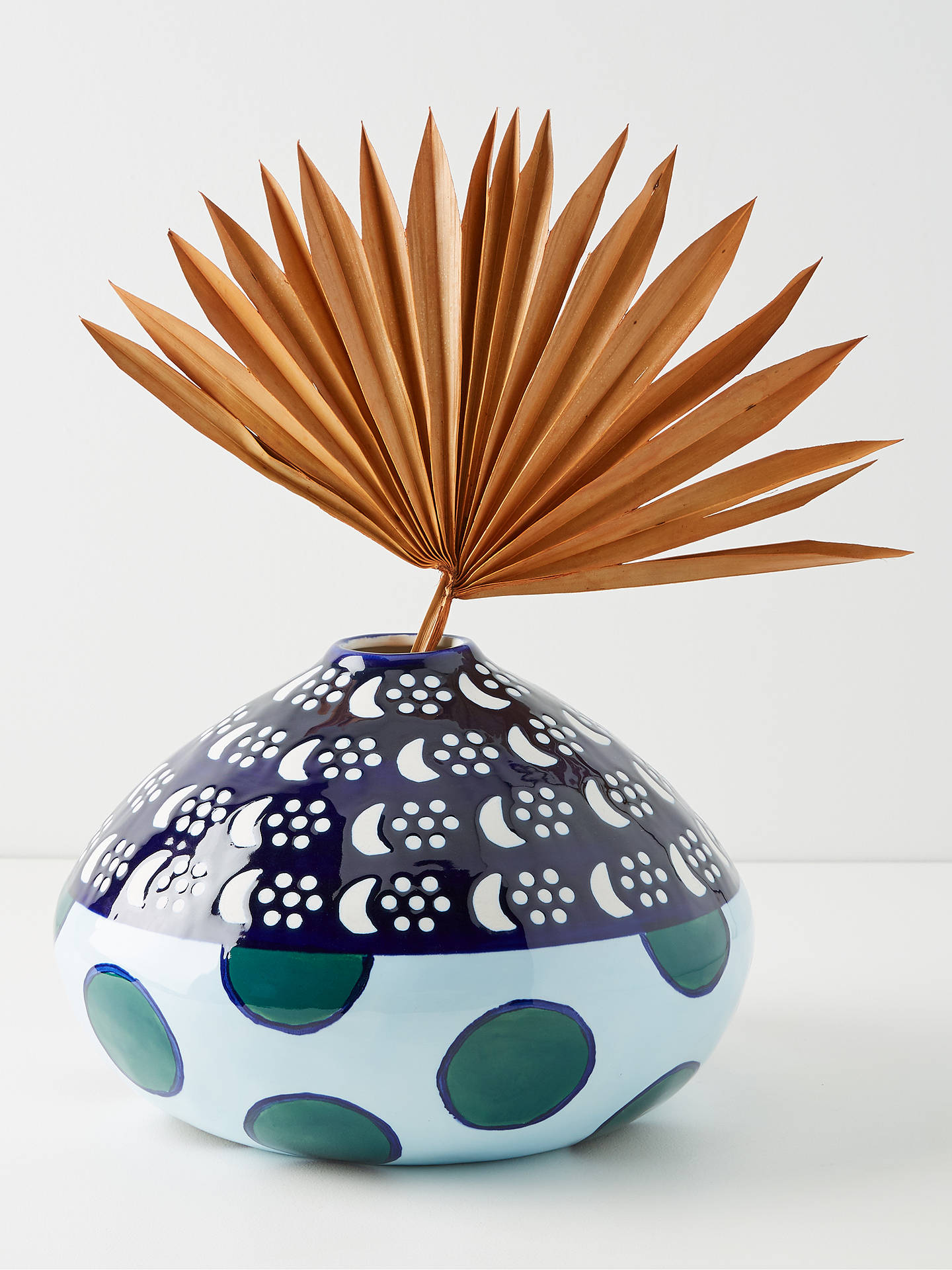 Buy Anthropologie Large Suno Vase, Multi, H18.5cm Online at johnlewis.com