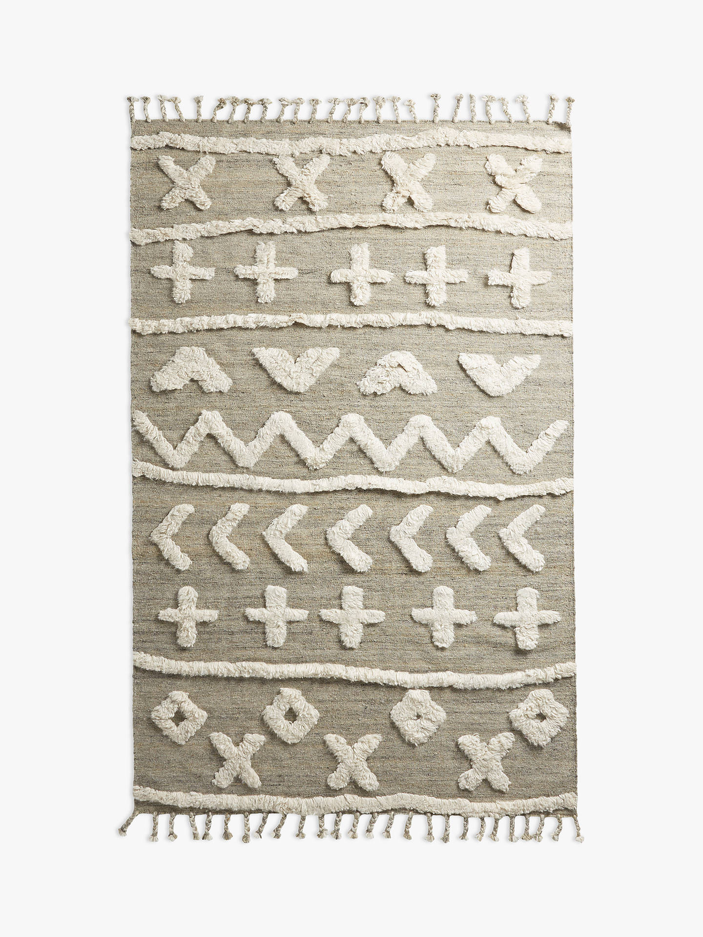 Anthropologie Minna Tufted Wool Rug L200 X W130cm Online At Johnlewis