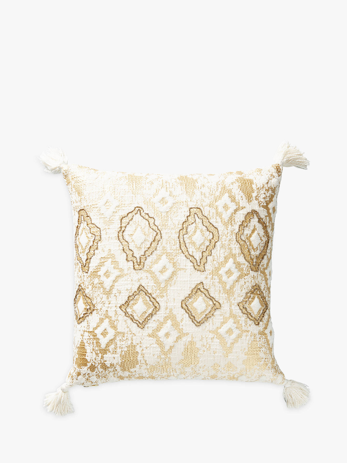 Buy Anthropologie Ryleigh Embroidered Square Cushion, Ivory Online at johnlewis.com