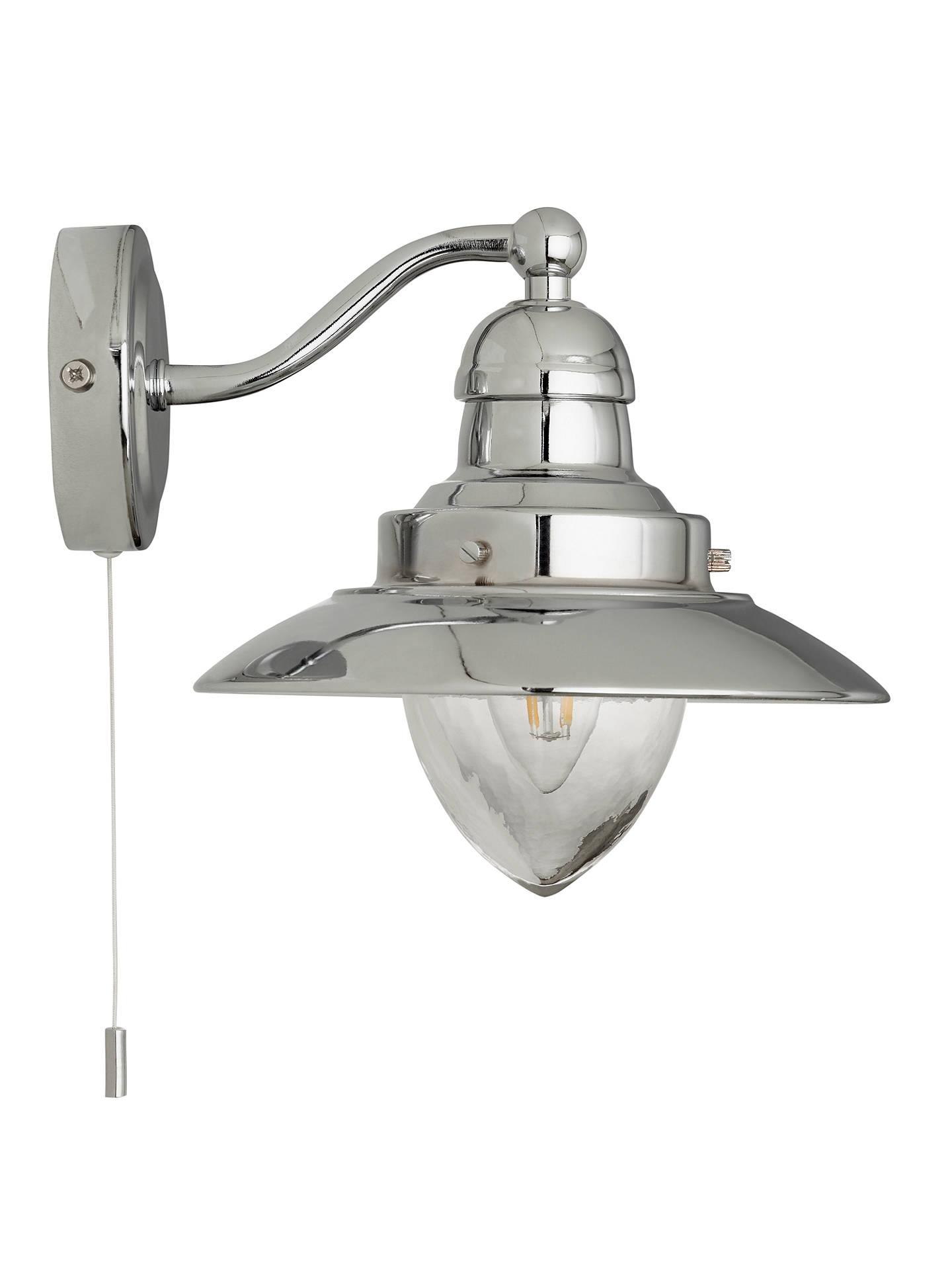 John Lewis & Partners Barrington Bathroom Wall Light, Chrome
