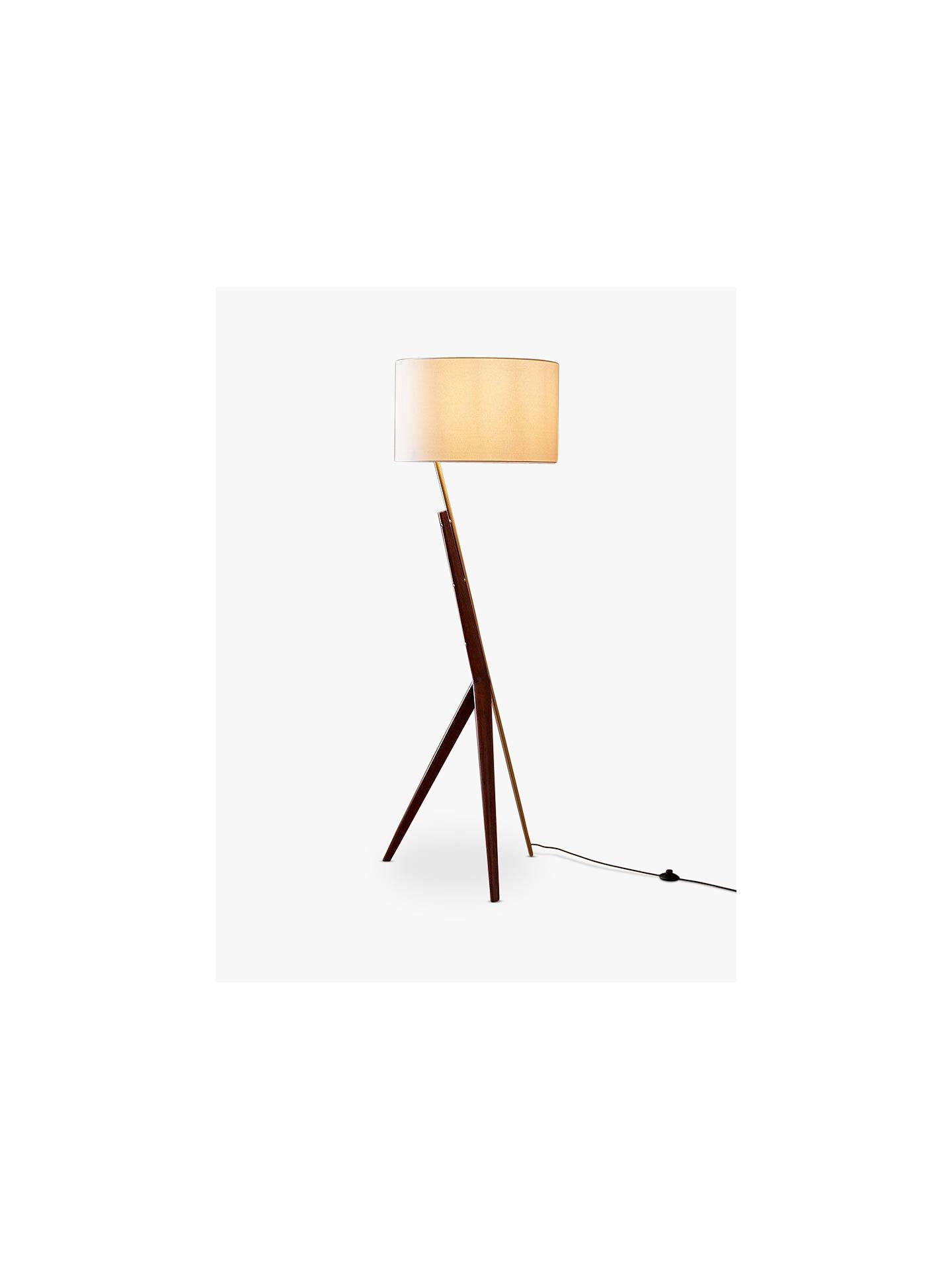 West Elm Caldas Floor Lamp Walnut At John Lewis Amp Partners