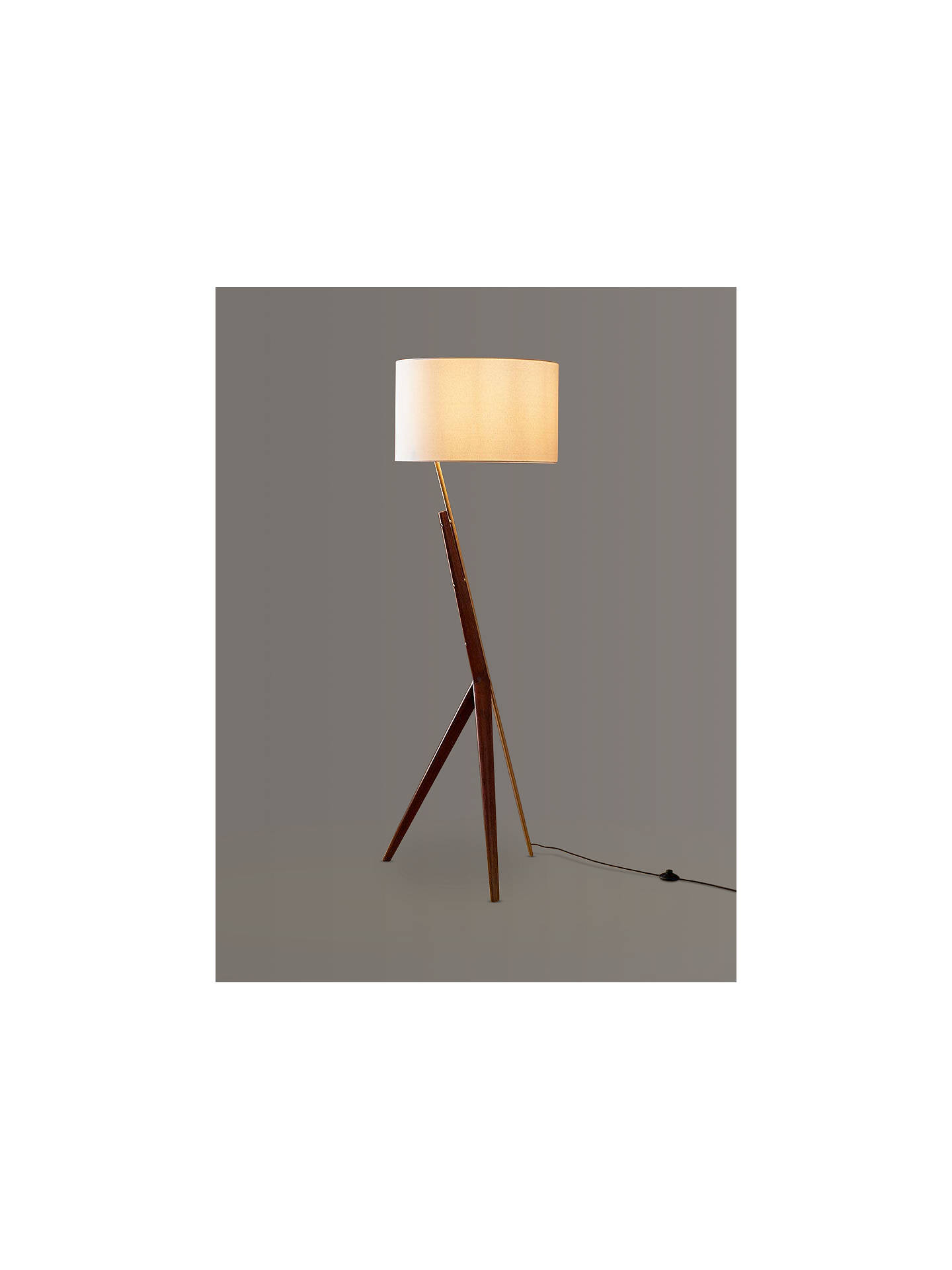 West Elm Caldas Floor Lamp Walnut At John Lewis Amp Partners