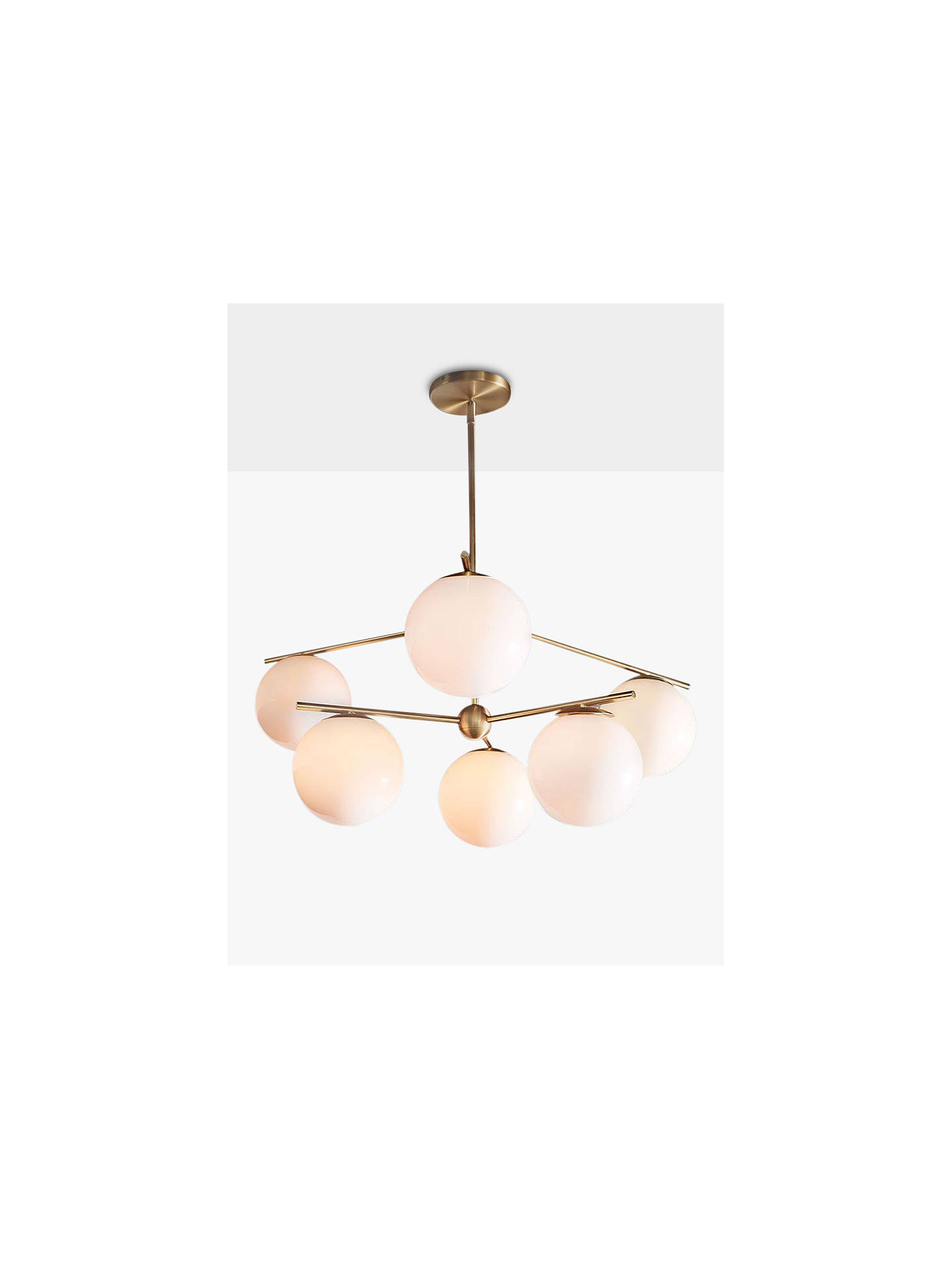 West Elm Sphere Stem Ceiling Light Brass