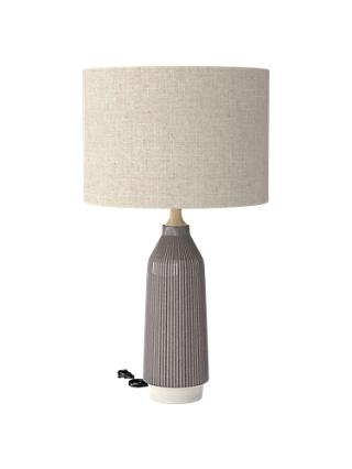 Table lamps new season lighting john lewis partners roar rabbit for west elm ripple small ceramic table lamp grey aloadofball Choice Image