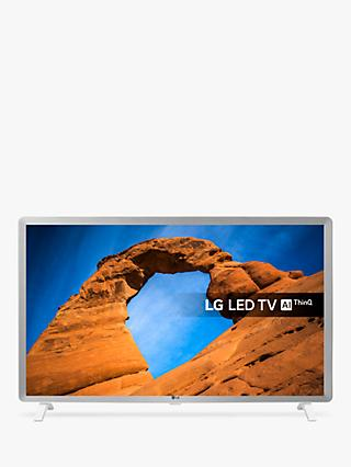 "LG 32LK6200PLA LED HDR Full HD 1080p Smart TV, 32"" with Freeview Play/Freesat HD, White & Grey"