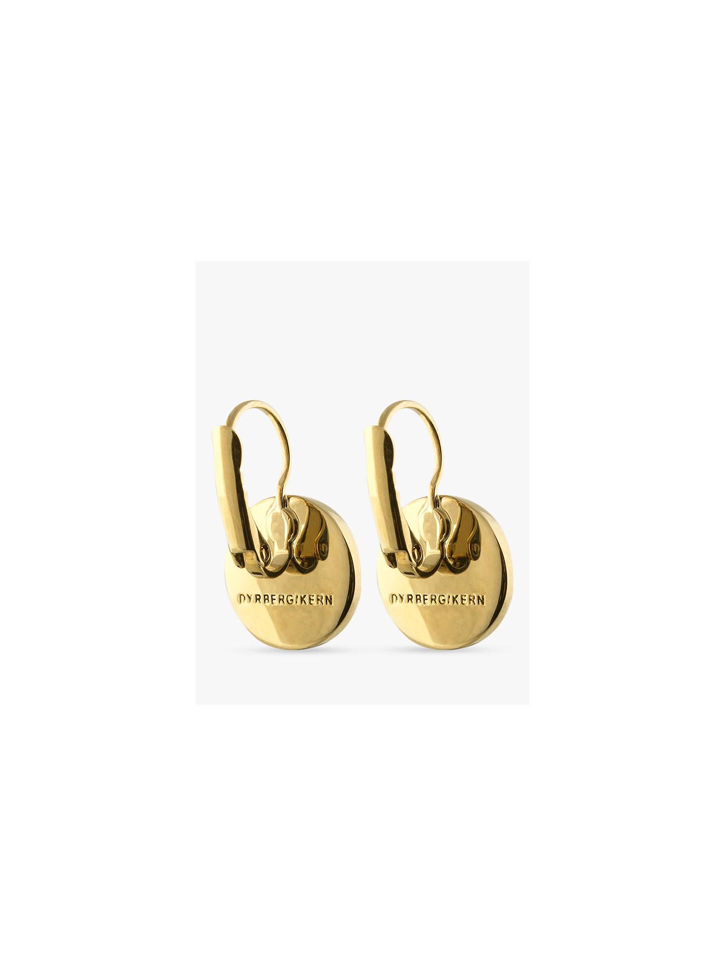 8ad85bf7dc795 DYRBERG/KERN Avelon Swarovski Crystal Round French Hook Logo Drop Earrings,  Gold