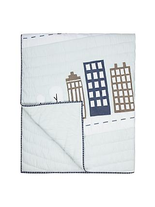 little home at John Lewis City Quilt, Multi