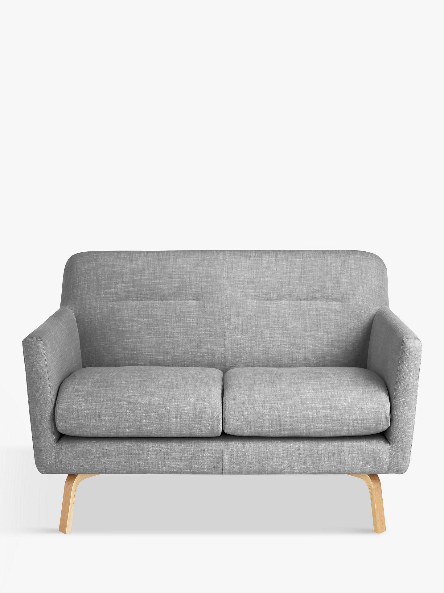 House by John Lewis Archie II Small 2 Seater Sofa, Light Leg, Saga Grey