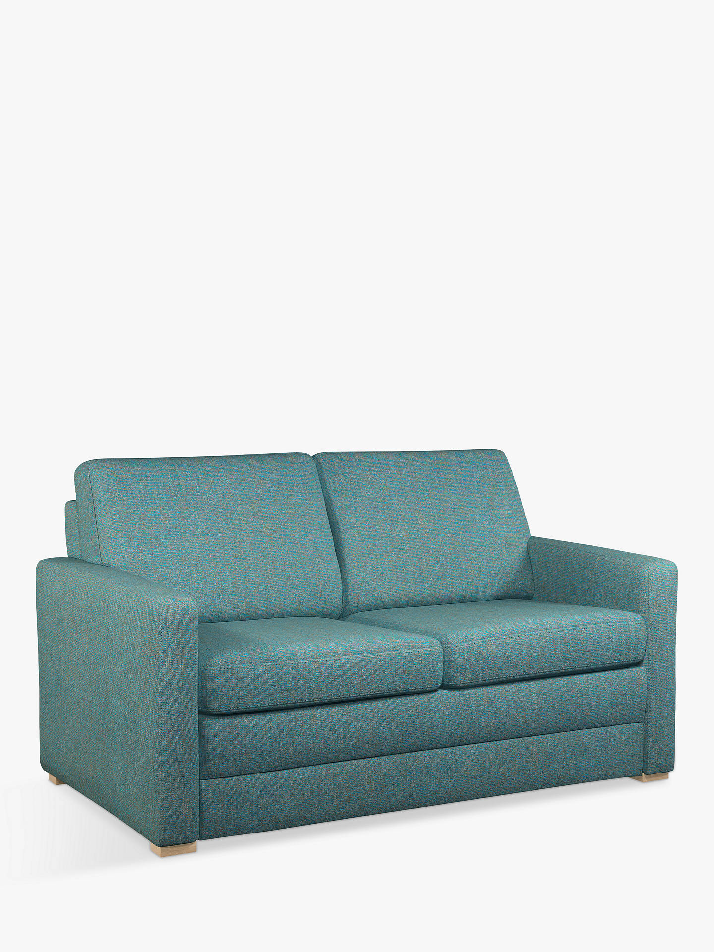 John Lewis Partners Siesta Sofa Bed Light Leg Riley Teal Online At Johnlewis