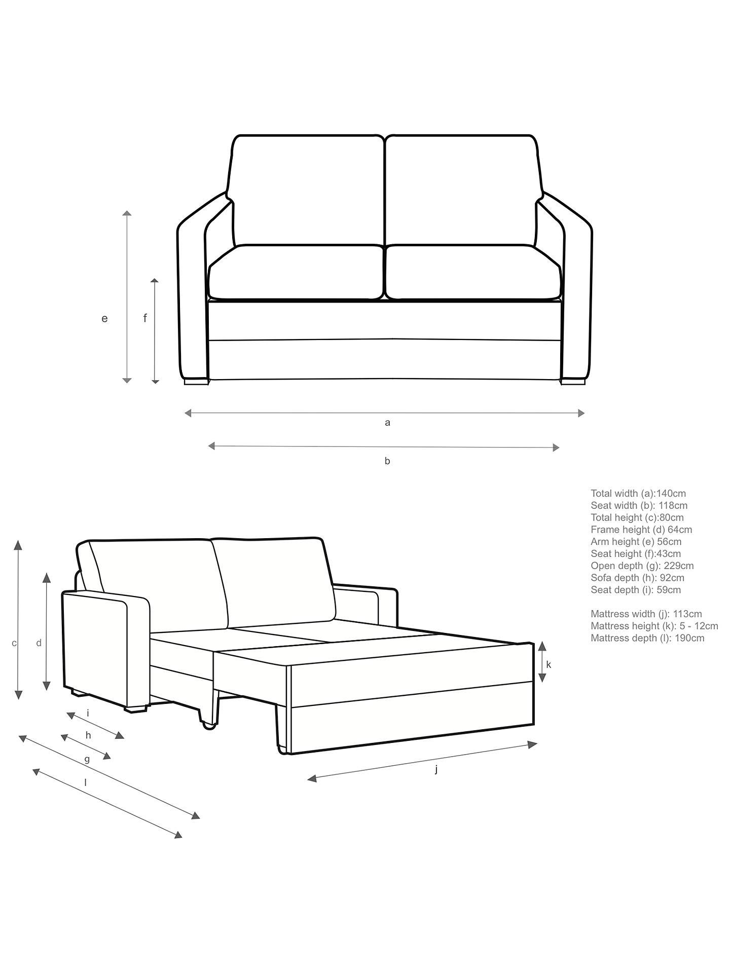 John Lewis Amp Partners Siesta Sofa Bed Light Leg Riley
