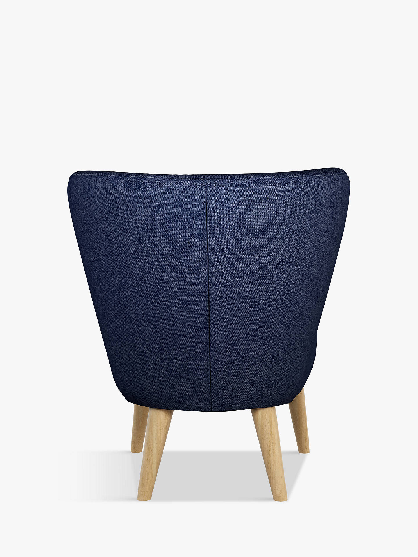 BuyHouse by John Lewis Audrey Accent Chair, Light Leg, Karl Navy Online at johnlewis.com