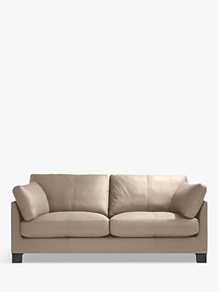 John Lewis & Partners Ikon Large 3 Seater Sofa, Dark Leg, Nature Putty