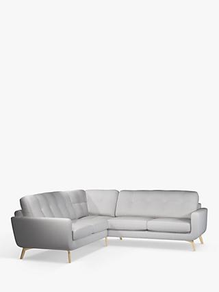 John Lewis U0026 Partners Barbican Corner Sofa, Light Leg, Stanton French Grey