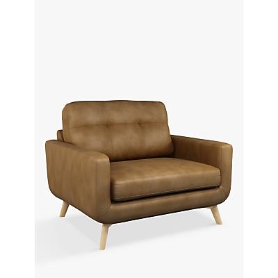 John Lewis & Partners Barbican Leather Snuggler, Light Leg, Demetra Light Tan