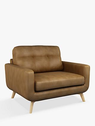 John Lewis & Partners Barbican Leather Snuggler, Light Leg, Demetra Light Tan