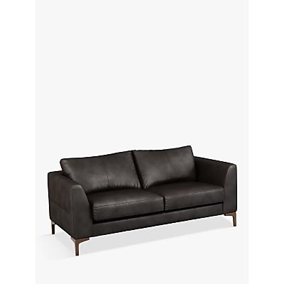John Lewis & Partners Belgrave Medium 2 Seater Leather Sofa, Dark Leg