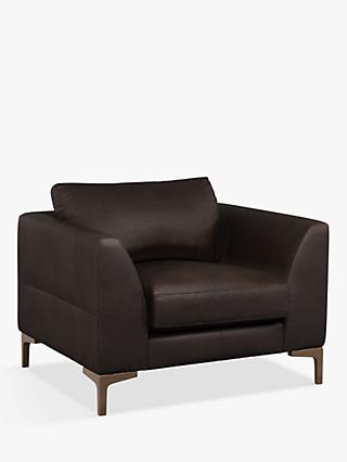 John Lewis & Partners Belgrave Leather Armchair, Dark Leg
