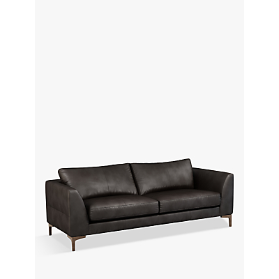 John Lewis & Partners Belgrave Grand 4 Seater Leather Sofa, Dark Leg
