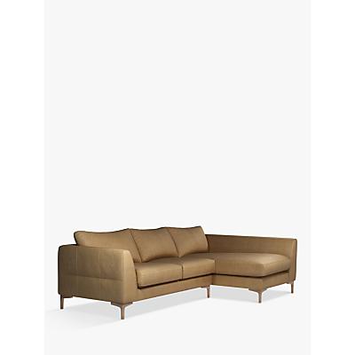 John Lewis & Partners Belgrave RHF Chaise End Leather Sofa, Dark Leg