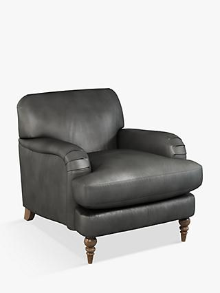 John Lewis & Partners Harrogate High Back Armchair, Dark Leg