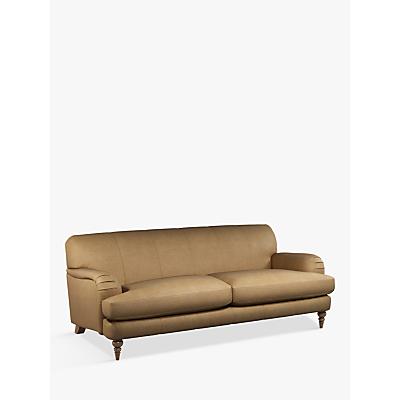 John Lewis & Partners Harrogate High Back Grand 4 Seater Leather Sofa, Dark Leg