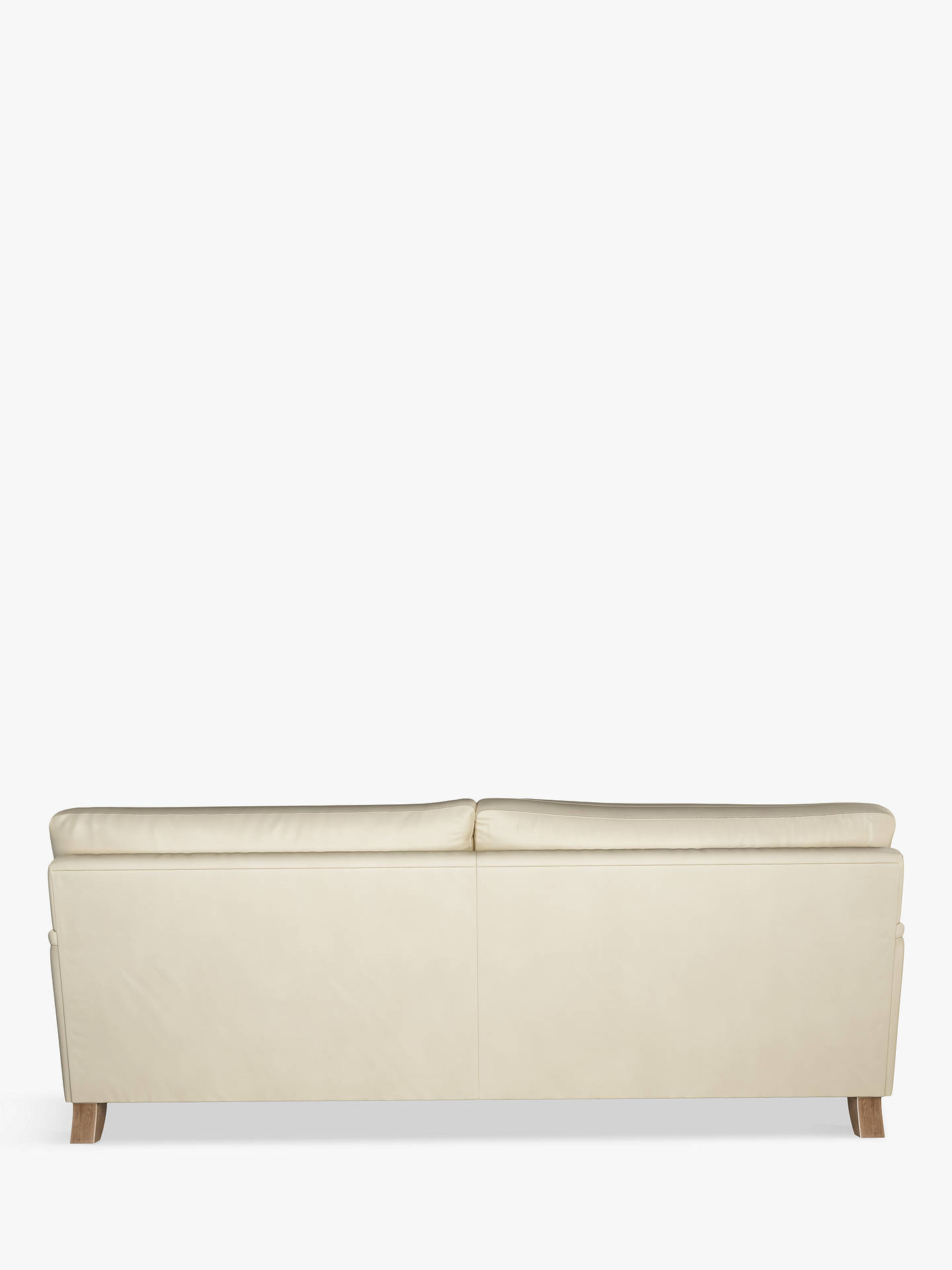 Buy John Lewis & Partners Otley Grand 4 Seater Leather Sofa, Dark Leg, Contempo Ivory Online at johnlewis.com
