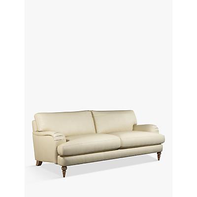 John Lewis & Partners Otley Grand 4 Seater Leather Sofa, Dark Leg