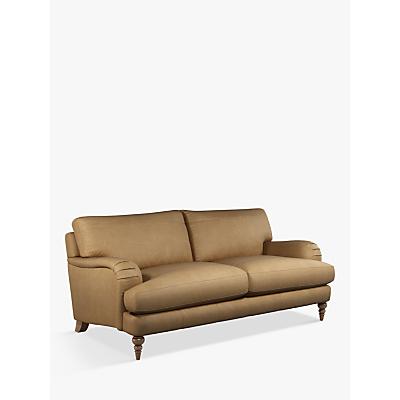 John Lewis & Partners Otley Large 3 Seater Leather Sofa, Dark Leg