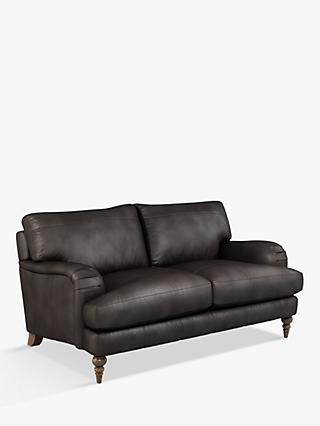 John Lewis & Partners Otley Medium 2 Seater Leather Sofa, Dark Leg