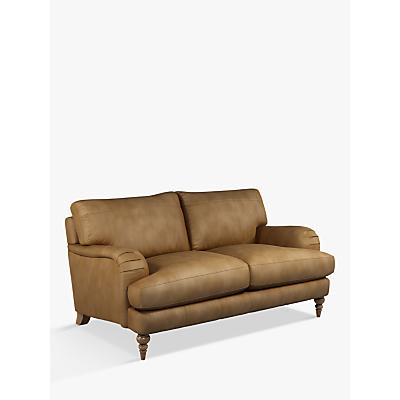 John Lewis & Partners Otley Medium 2 Seater Leather Sofa, Dark Leg