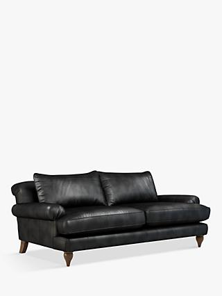 Croft Collection Findon Grand 4 Seater Leather Sofa, Dark Leg