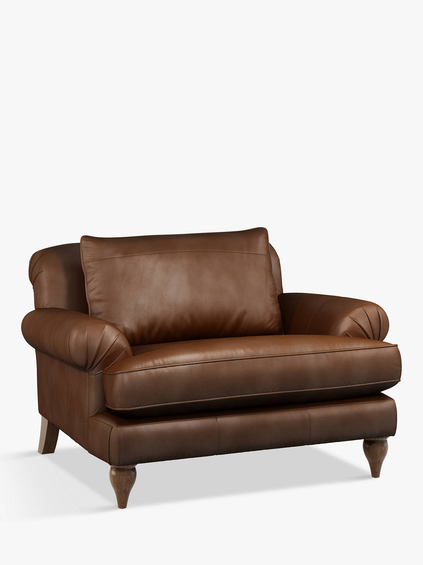 Buy Croft Collection Findon Leather Snuggler, Dark Leg, Contempo Castanga Online at johnlewis.com