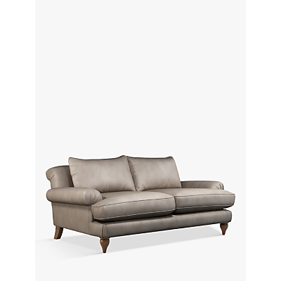 Croft Collection Findon Large 3 Seater Leather Sofa, Dark Leg