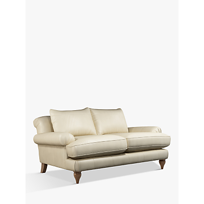 Croft Collection Findon Medium 2 Seater Leather Sofa, Dark Leg
