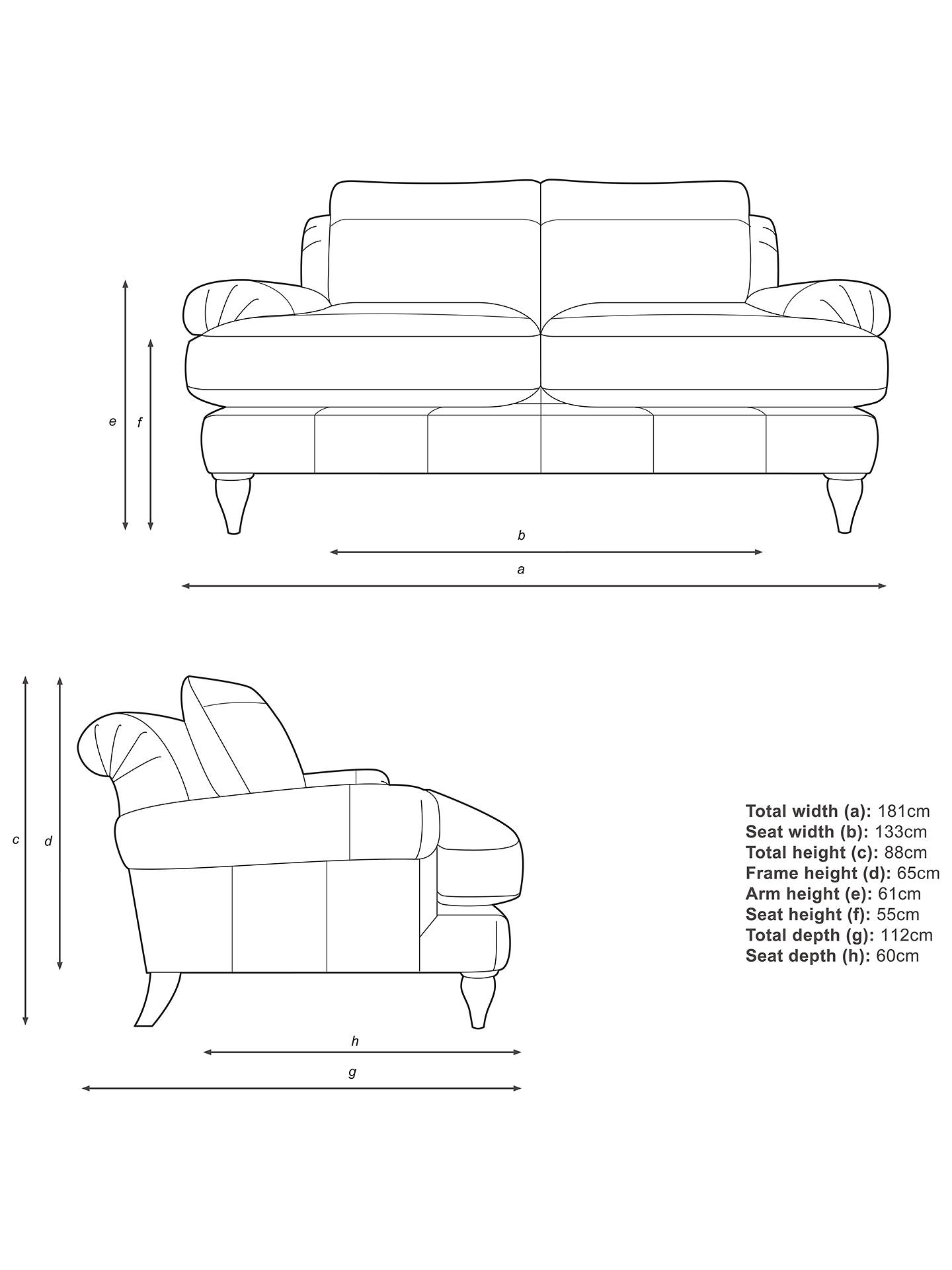 Buy Croft Collection Findon Medium 2 Seater Leather Sofa, Dark Leg, Contempo Ivory Online at johnlewis.com