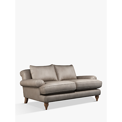Croft Collection Findon Medium 2 Seater Leather Sofa, Dark Leg