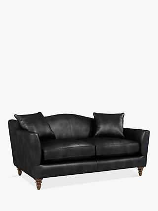 Croft Collection Melrose Medium 2 Seater Leather Sofa, Dark Leg