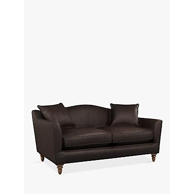 John Lewis & Partners Melrose Medium 2 Seater Leather Sofa, Dark Leg