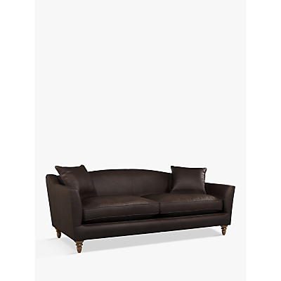 John Lewis & Partners Melrose Grand 4 Seater Leather Sofa, Dark Leg