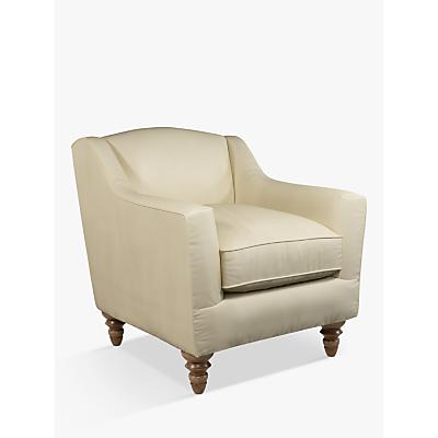 John Lewis & Partners Melrose Leather Armchair, Dark Leg