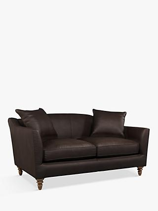 Croft Collection Melrose Small 2 Seater Leather Sofa, Dark Leg