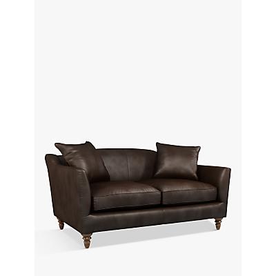 John Lewis & Partners Melrose Small 2 Seater Leather Sofa, Dark Leg