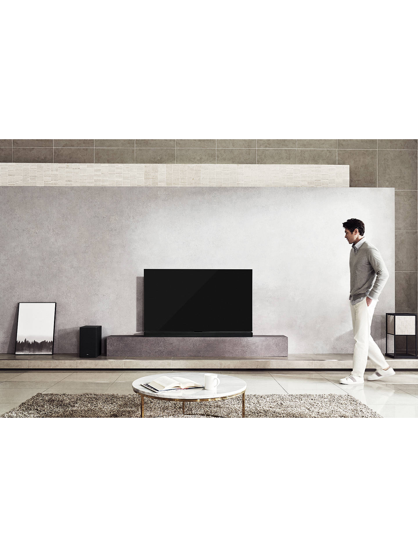BuyLG SK10Y Wi-Fi Bluetooth Sound Bar with Wireless Subwoofer, Meridian Technology, Dolby Atmos, High Resolution Audio & Chromecast Built-in, Black Online at johnlewis.com