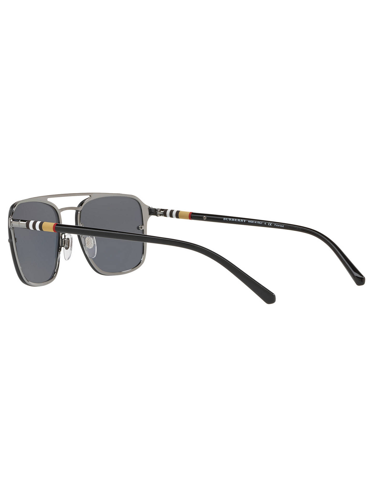 6bbb7a81671f ... Buy Burberry BE3095 Men's Polarised Square Sunglasses, Grey Online at  johnlewis. ...
