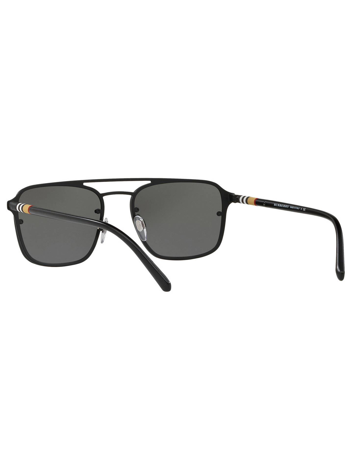 BuyBurberry BE3095 Men's Square Sunglasses, Black/Mirror Grey Online at johnlewis.com